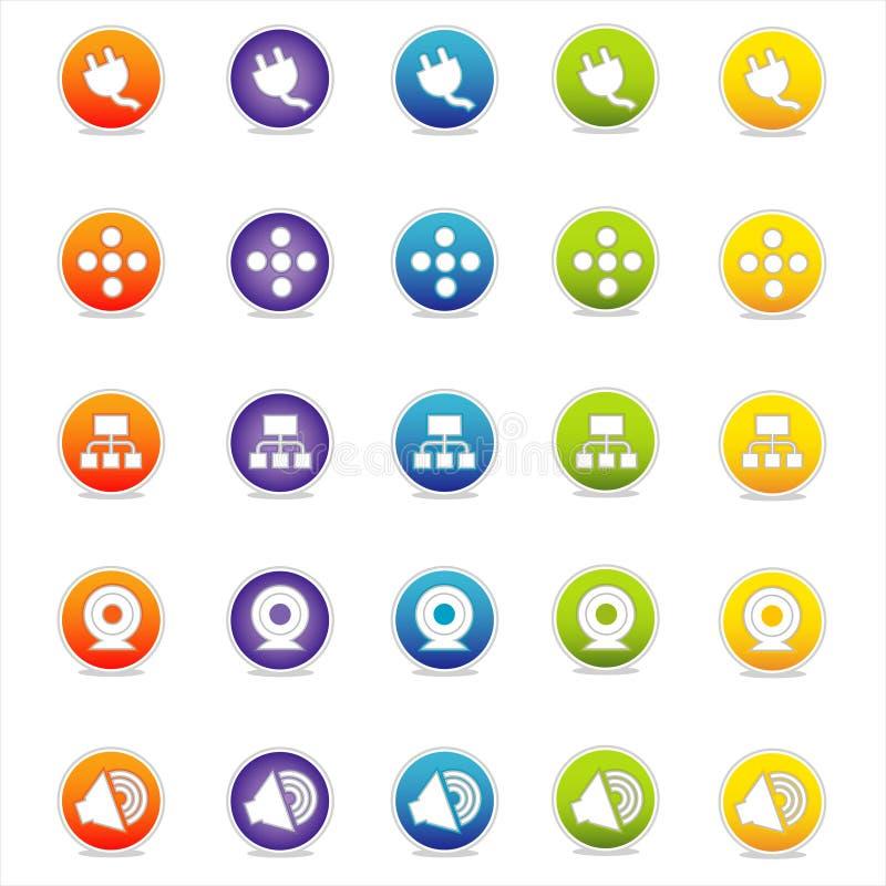 Ícones coloridos 4 do Web (vetor) ilustração do vetor