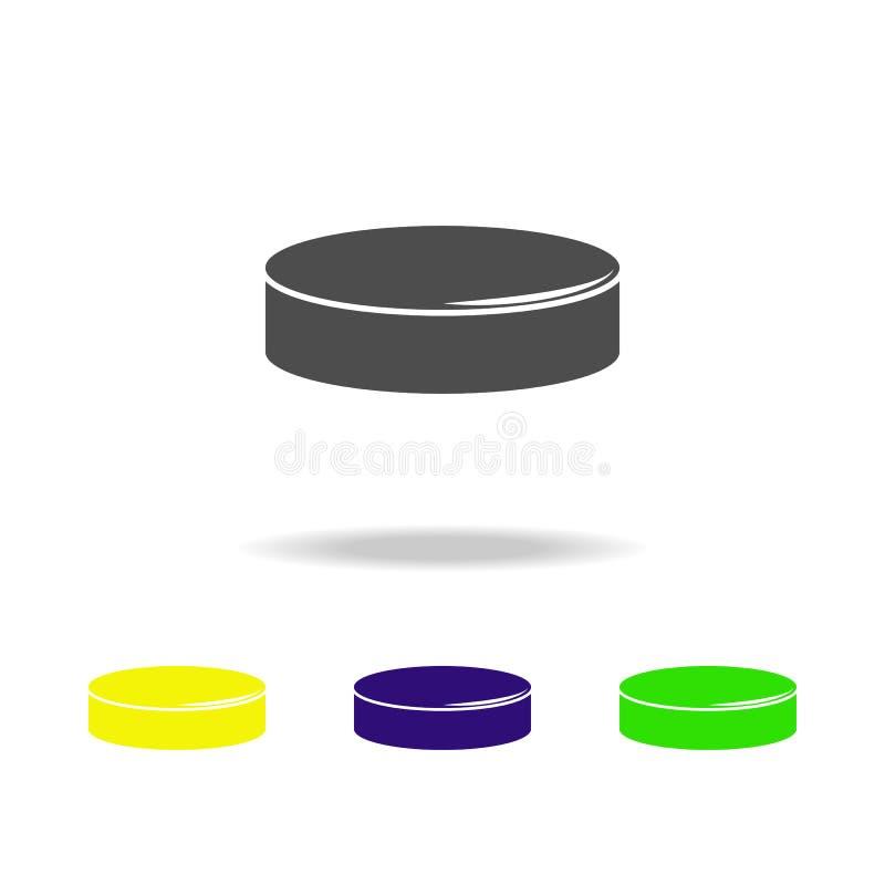 ícones coloridos da arruela O elemento do ícone do esporte pode ser usado para a Web, logotipo, app móvel, UI, UX ilustração do vetor