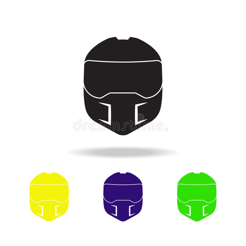 ícones coloridos do capacete Ícone do elemento dos monsteres truck Sinais do bebê, ícone para Web site, design web da coleção dos ilustração royalty free