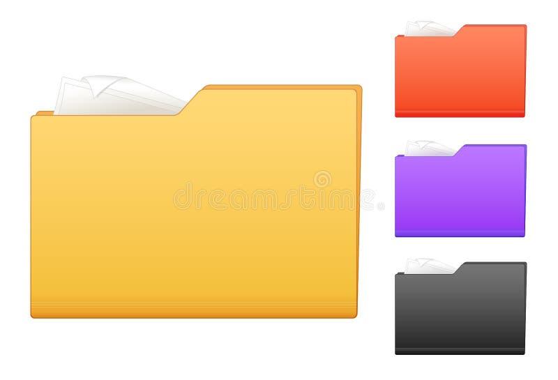 Ícones coloridos do dobrador ilustração stock