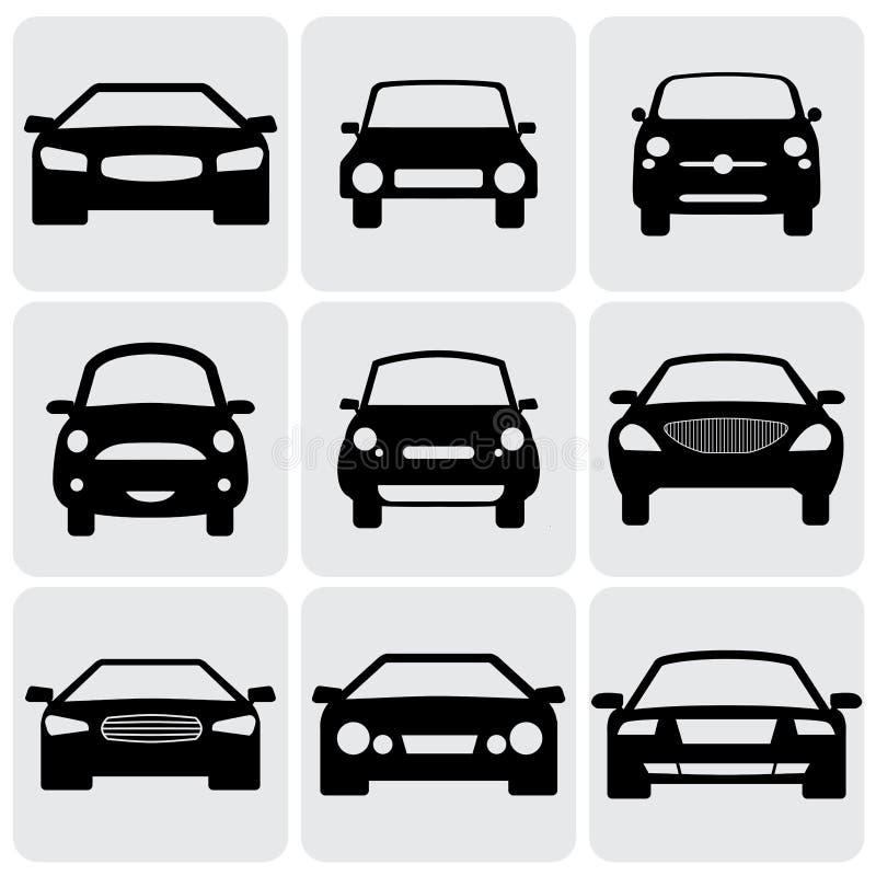 Ícones compactos e luxuosos do automóvel de passageiros (sinais) para ilustração royalty free