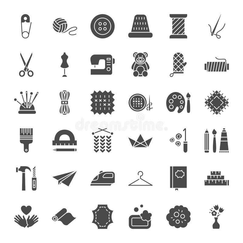 Ícones contínuos feitos a mão da Web ilustração stock