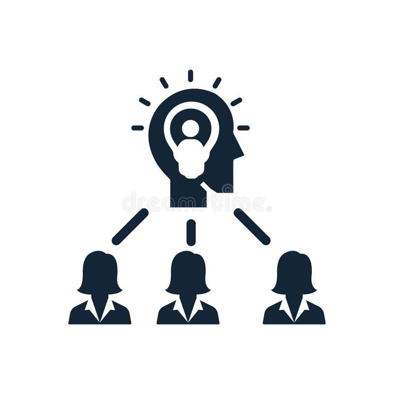 Ícones criativos do sentido da equipe da ideia do negócio ilustração do vetor