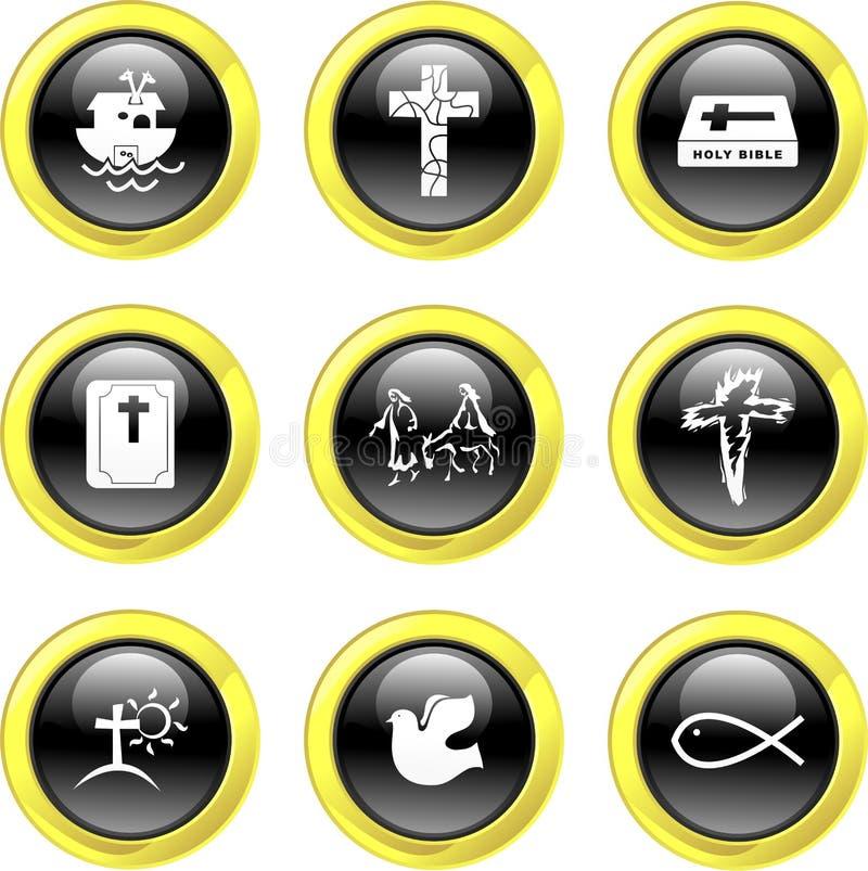 Ícones cristãos ilustração do vetor
