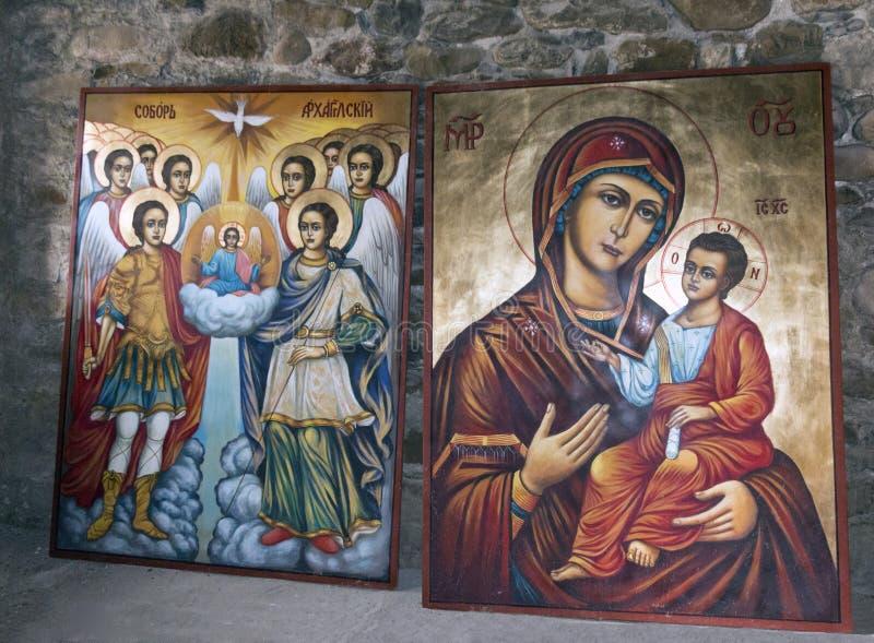 Ícones cristãos fotos de stock