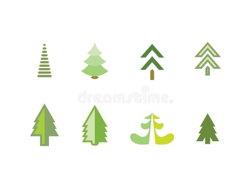 Ícones da árvore fotografia de stock royalty free