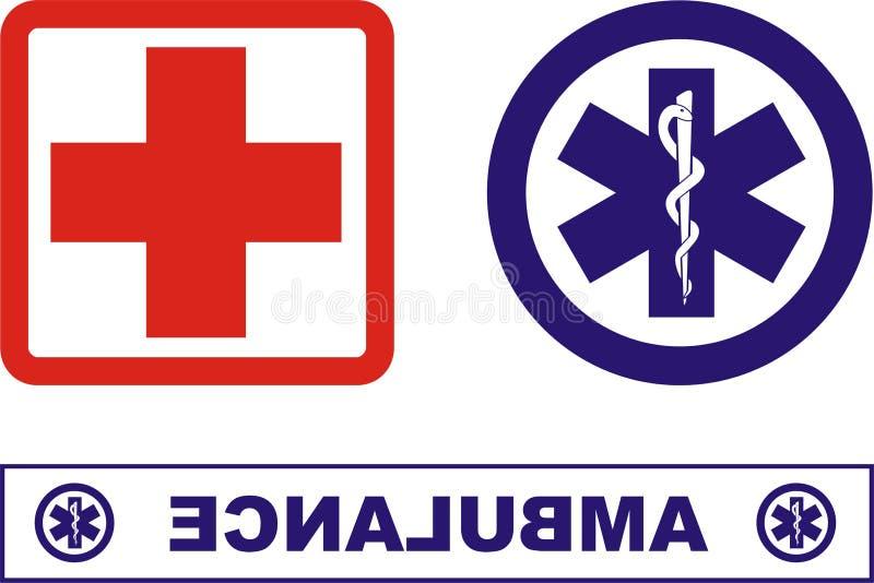 Ícones da ambulância fotos de stock royalty free