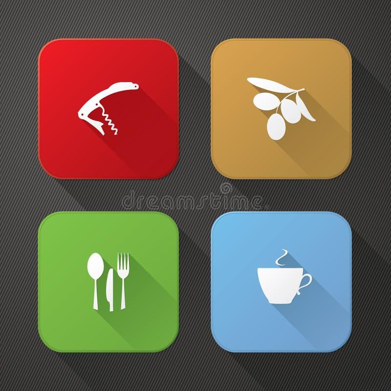 Ícones da aplicação ilustração stock