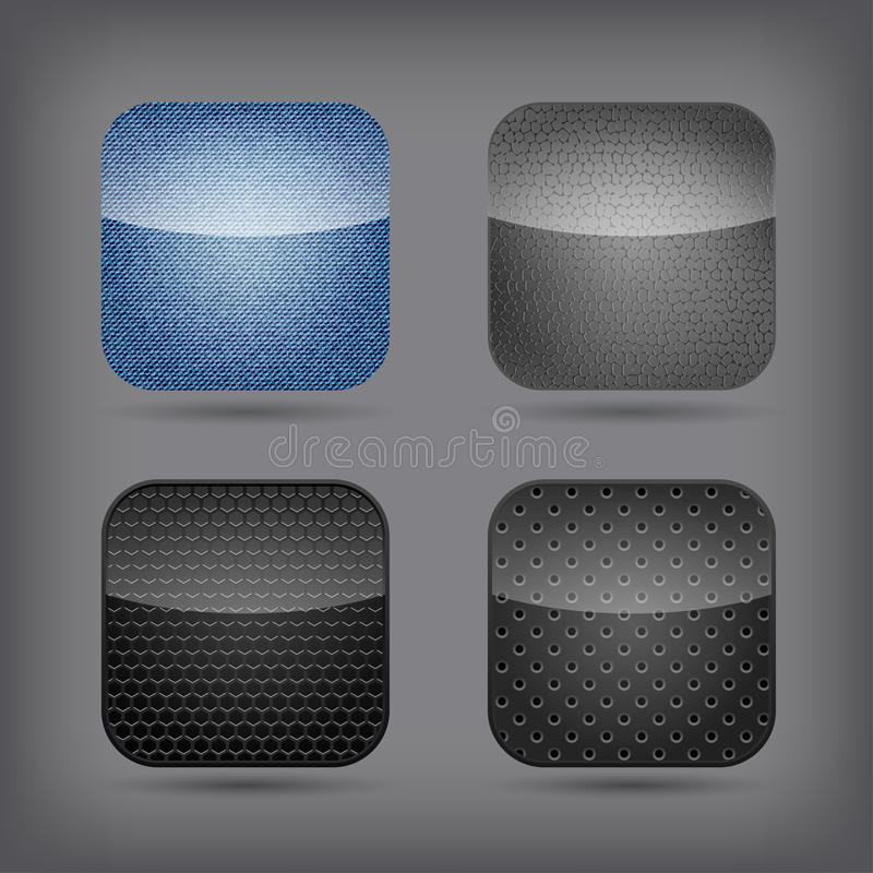 Ícones da aplicação ajustados ilustração stock