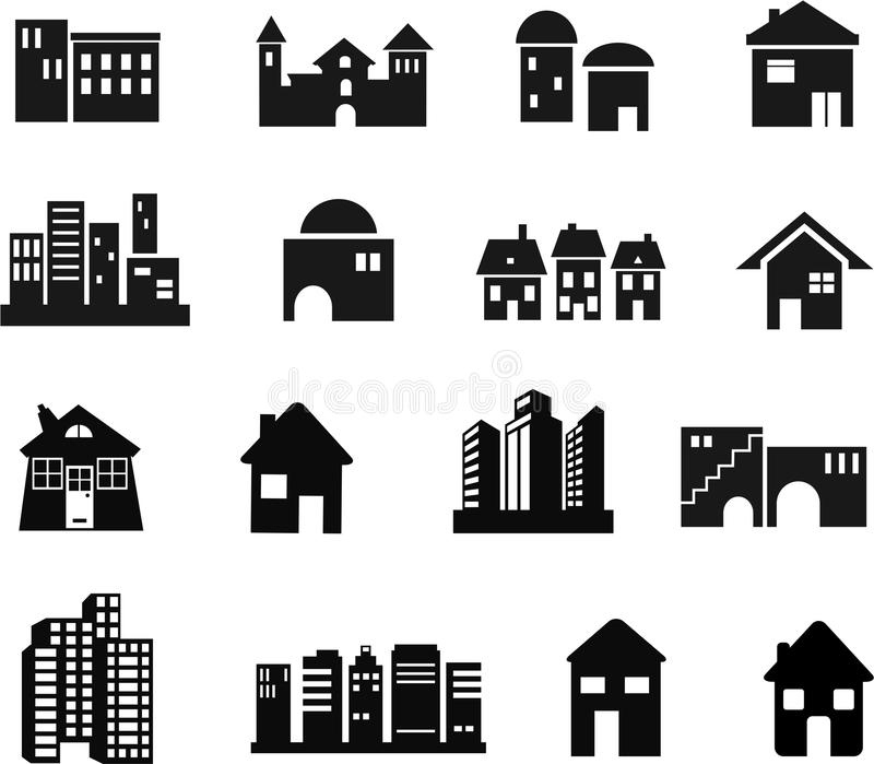 Ícones da arquitetura ilustração royalty free