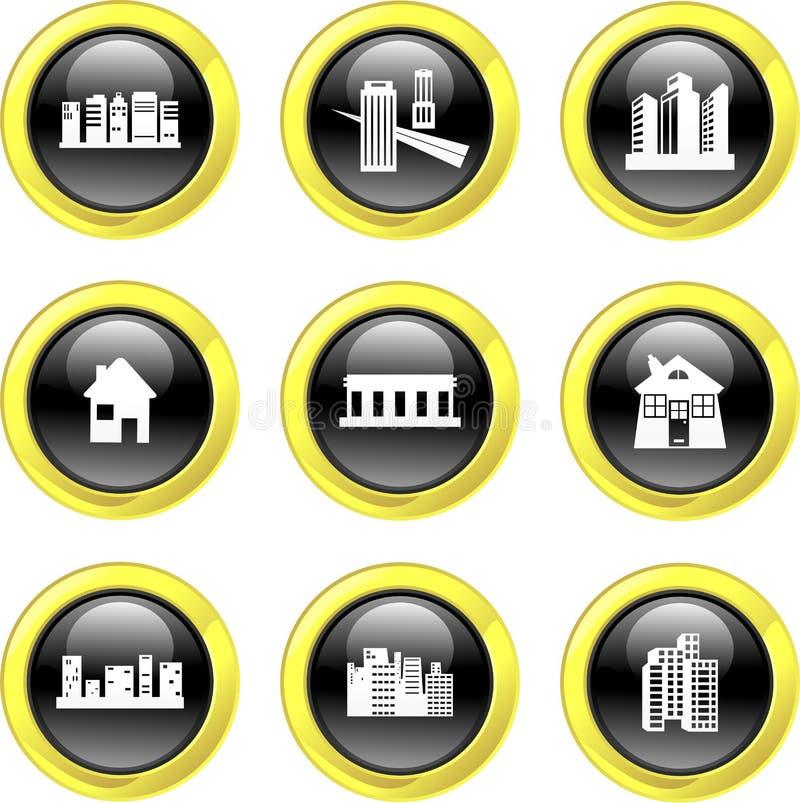 Ícones da arquitetura ilustração stock