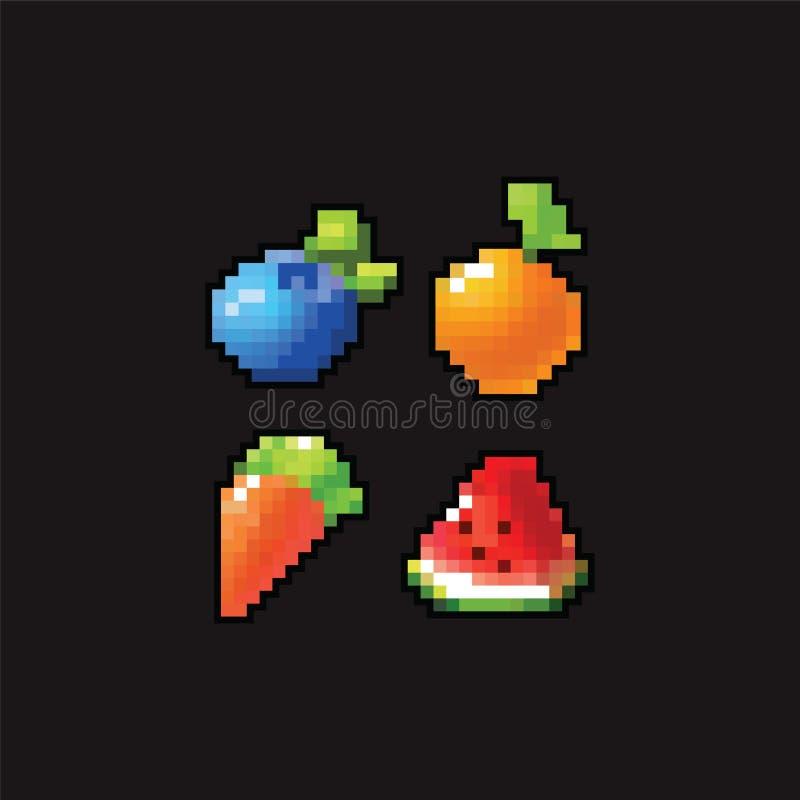 8 ícones da arte do pixel do bocado foto de stock royalty free