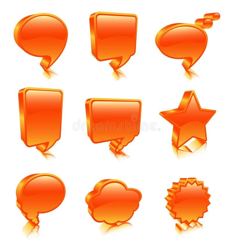 Ícones da bolha ilustração royalty free