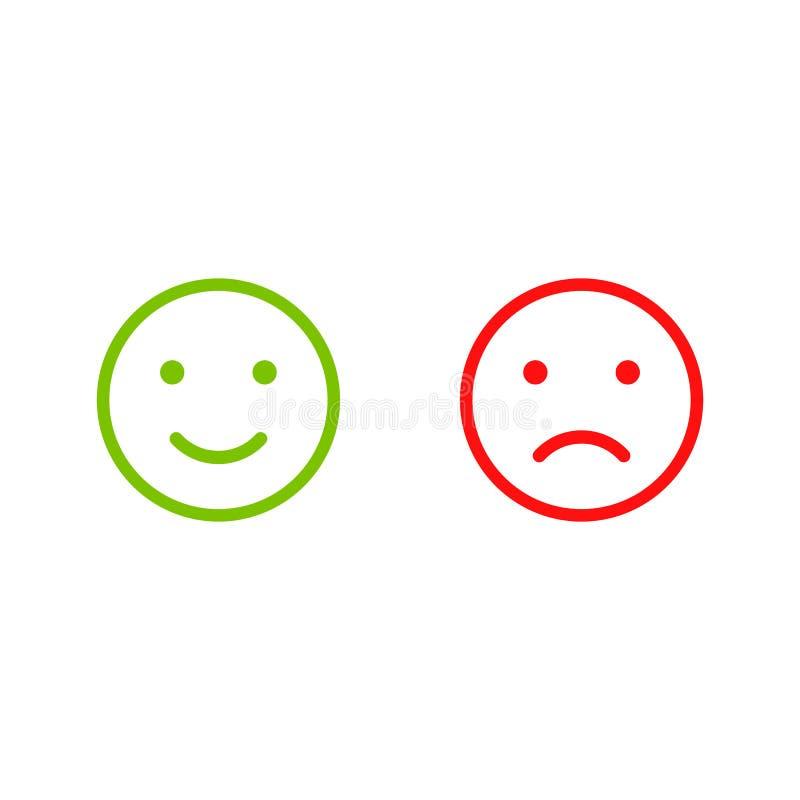 Ícones da cara do sorriso ilustração royalty free