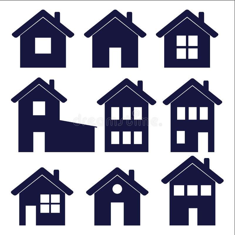 Ícones da casa ilustração stock