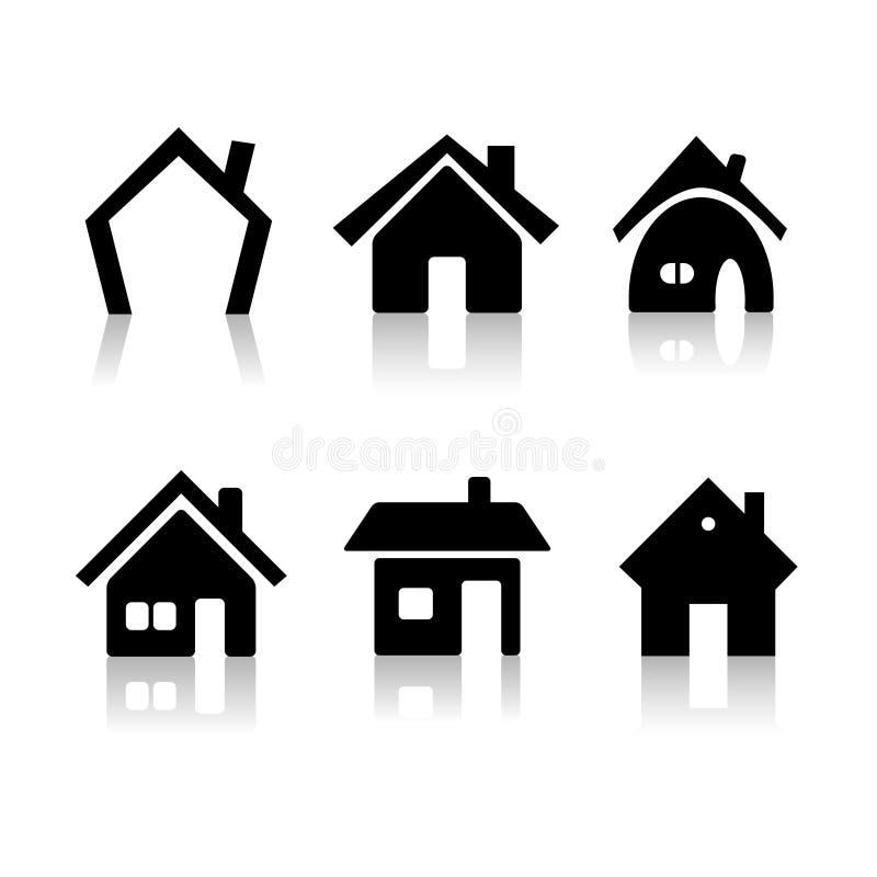 Ícones da casa ilustração royalty free