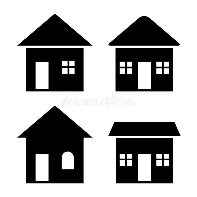 Ícones da casa ajustados (VETOR) ilustração do vetor