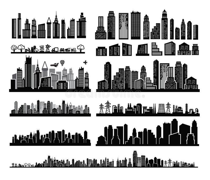 Ícones da cidade ilustração do vetor