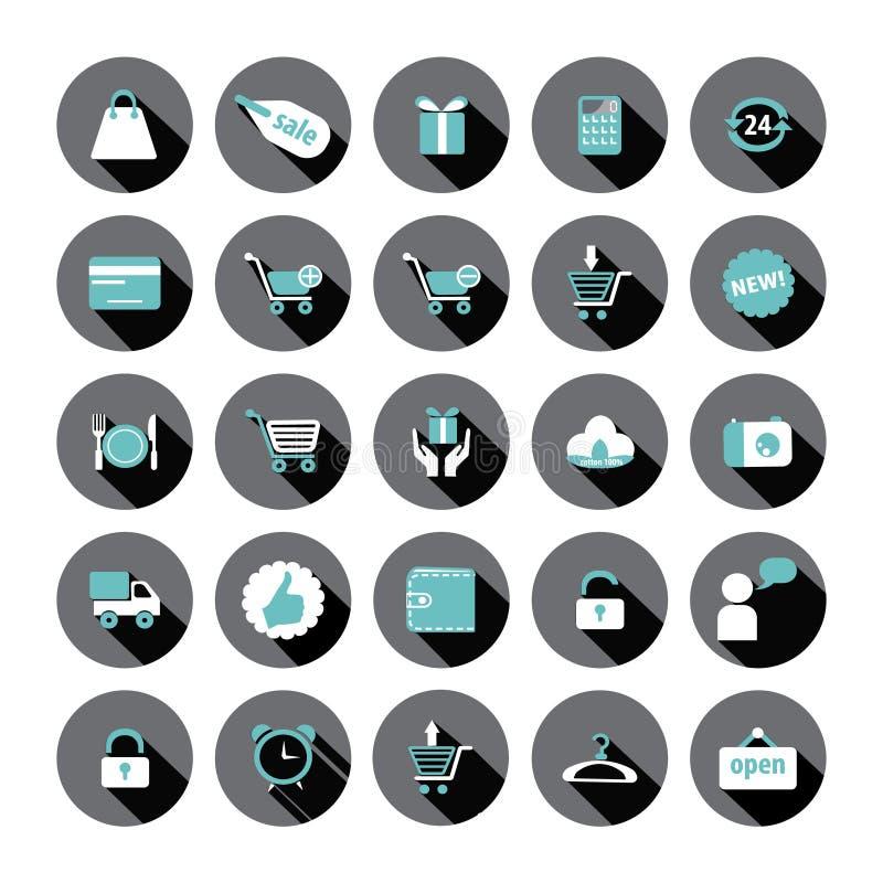 Ícones da compra e da venda. ilustração do vetor