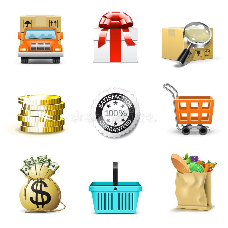 Ícones da compra | Série de Bella ilustração stock