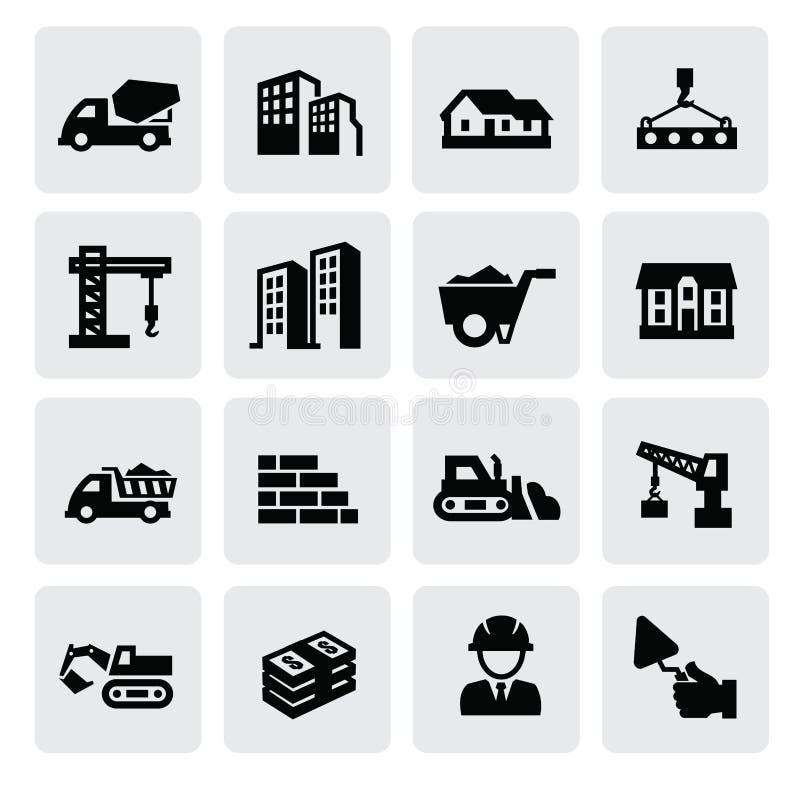 Ícones da construção ilustração stock