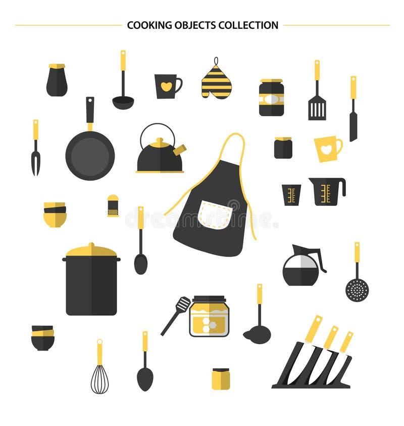 Ícones da cozinha, vetor ilustração do vetor