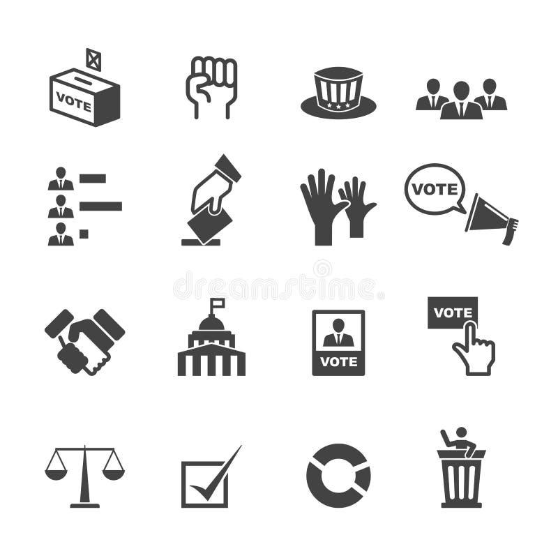Ícones da democracia ilustração royalty free
