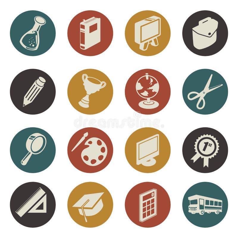 Ícones da educação ilustração do vetor