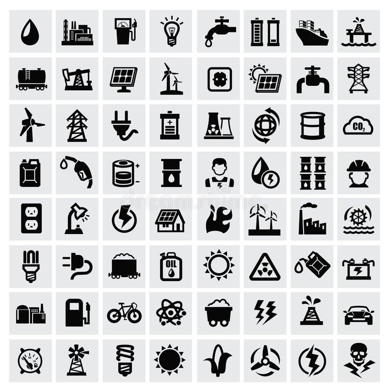 Ícones da energia ilustração stock