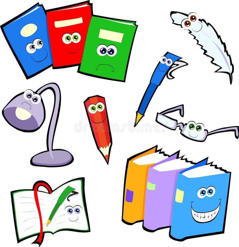 Ícones da escrita ilustração stock