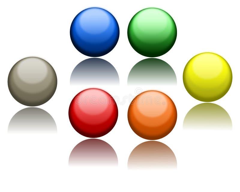 Ícones da esfera ilustração do vetor