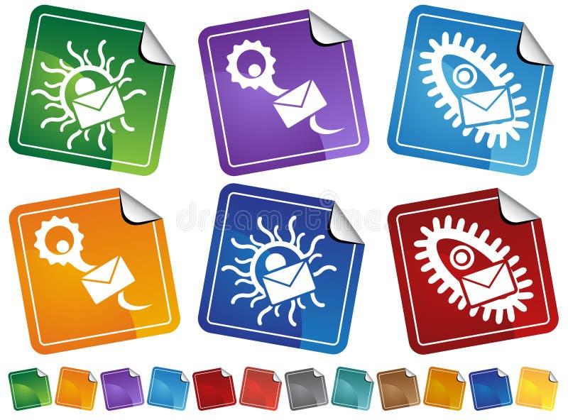 Ícones da etiqueta do vírus ilustração royalty free