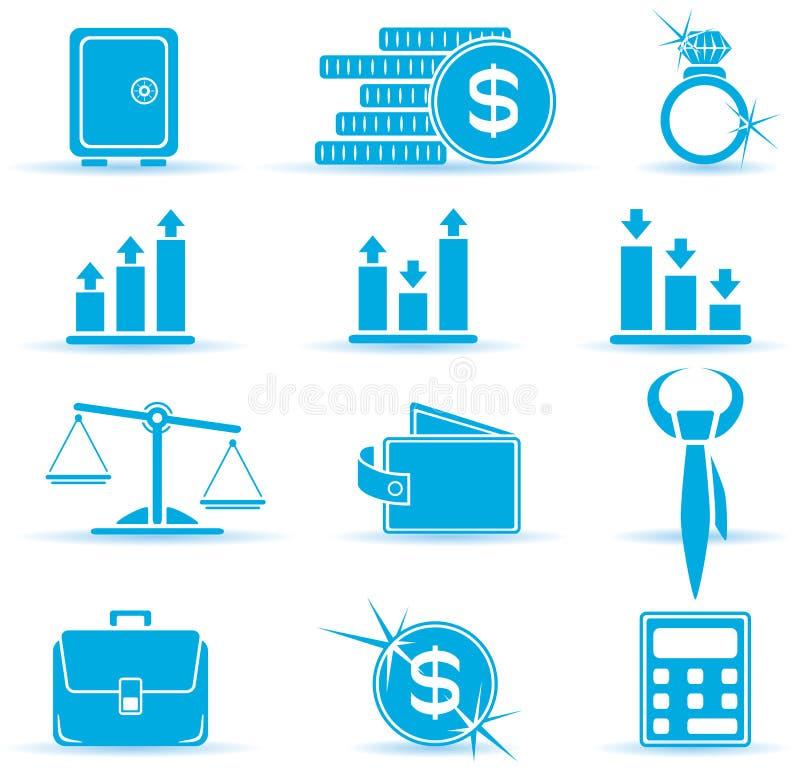 Ícones da finança ilustração royalty free