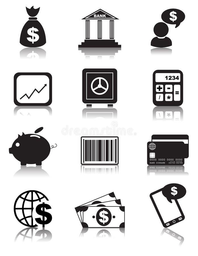 Ícones da finança ilustração do vetor