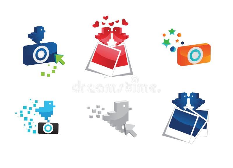 Ícones da foto ilustração do vetor