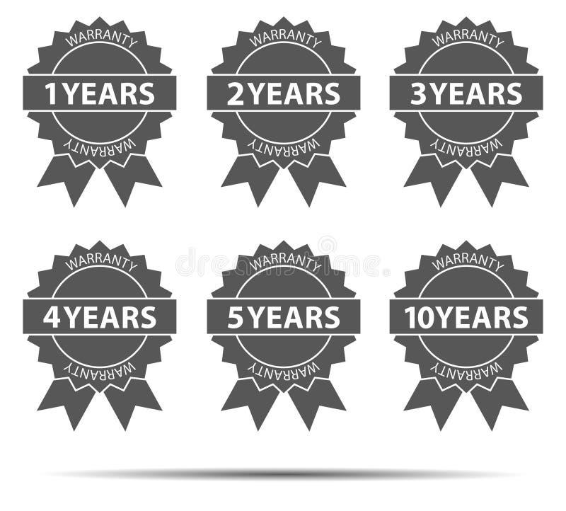 Ícones da garantia ilustração royalty free