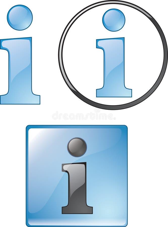 Ícones da informação ilustração do vetor