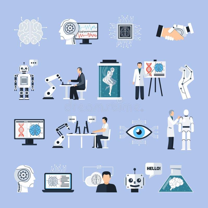Ícones da inteligência artificial ajustados