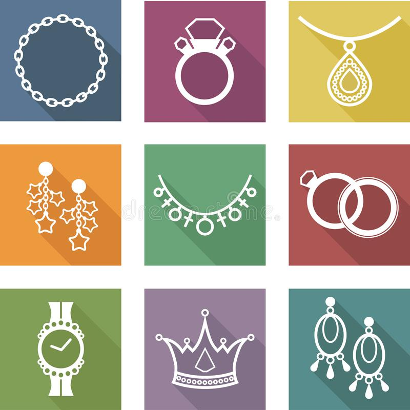 ícones da joia ilustração royalty free
