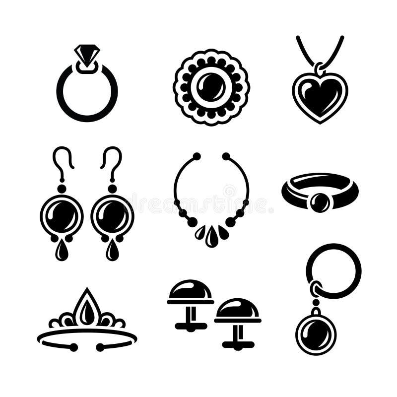 Ícones da joia ilustração do vetor