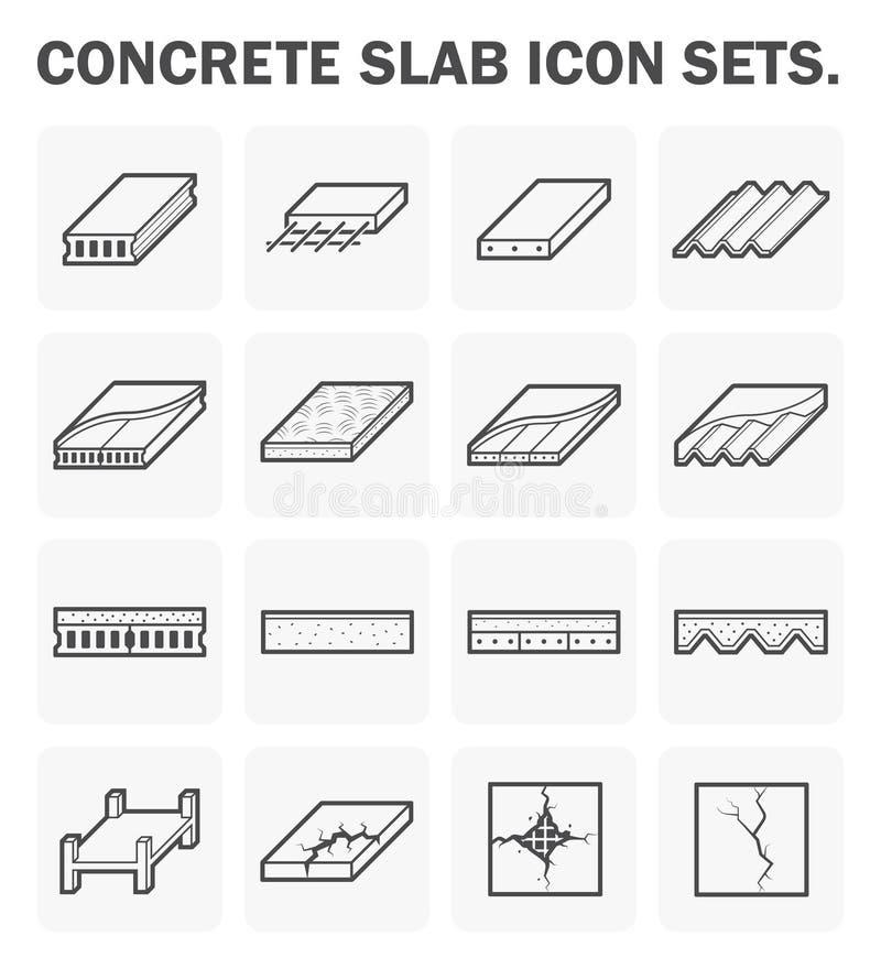 Ícones da laje de cimento ilustração do vetor
