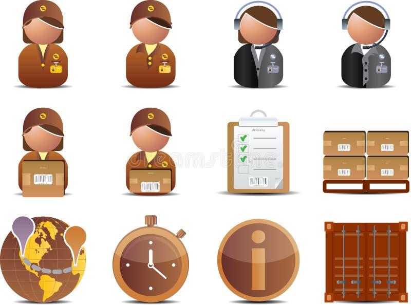 Ícones da logística e da entrega ilustração stock