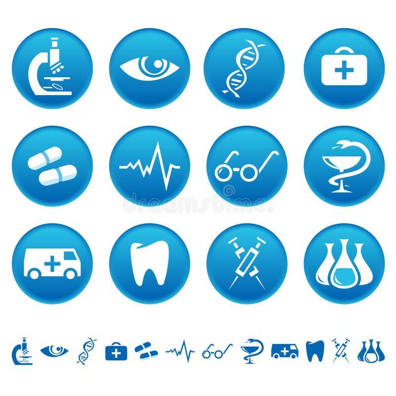 Ícones da medicina ilustração do vetor
