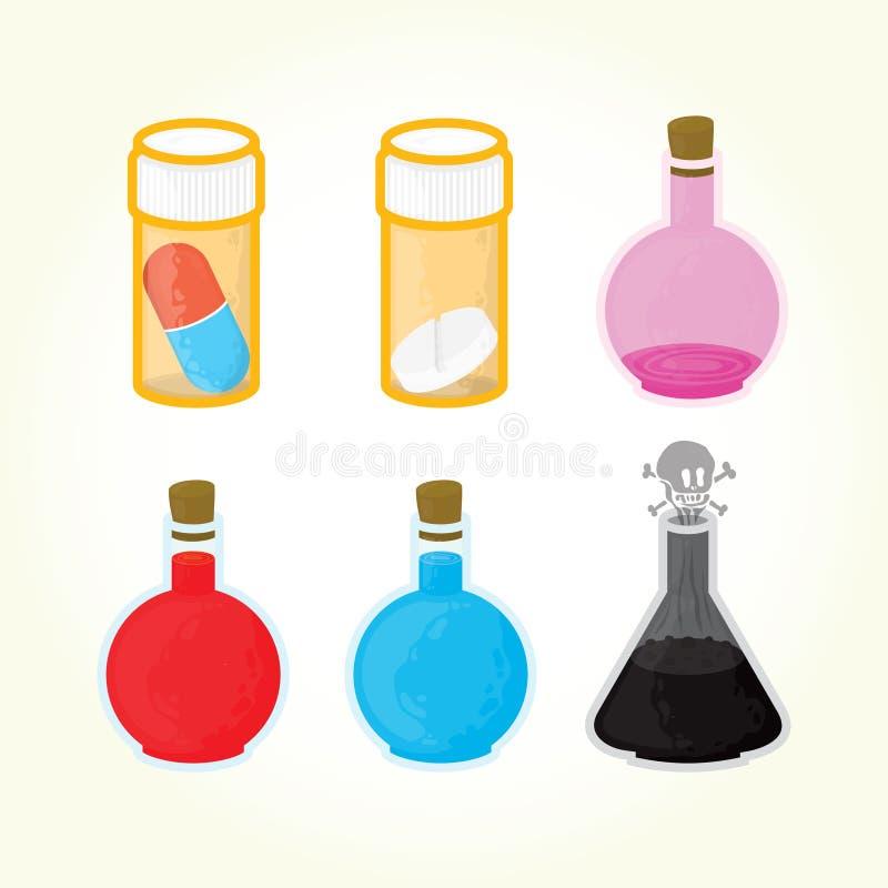 Ícones da medicina do jogo ilustração royalty free