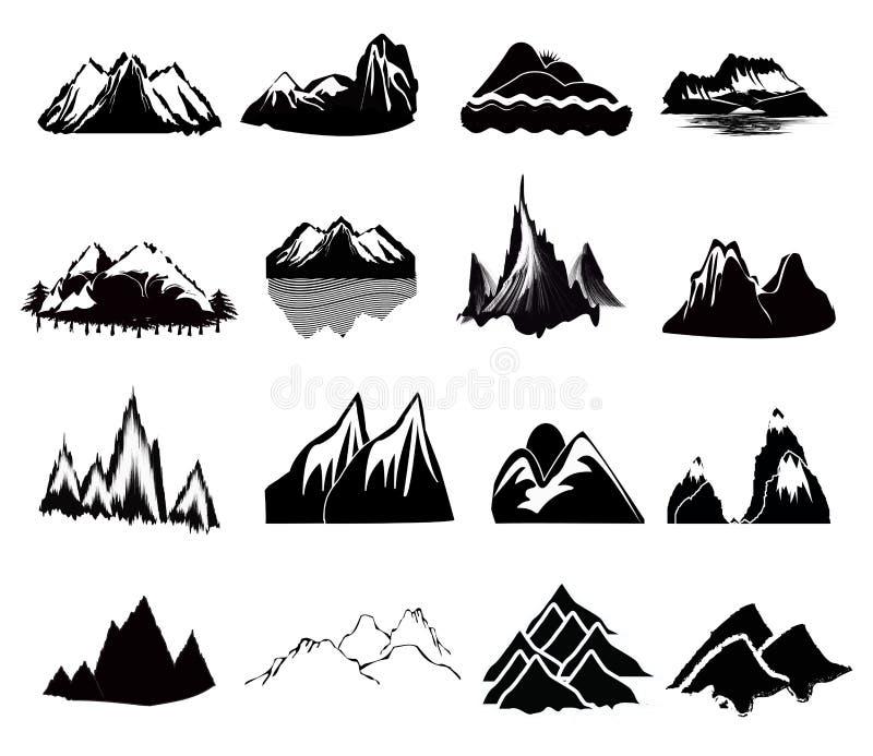 Ícones da montanha ilustração do vetor