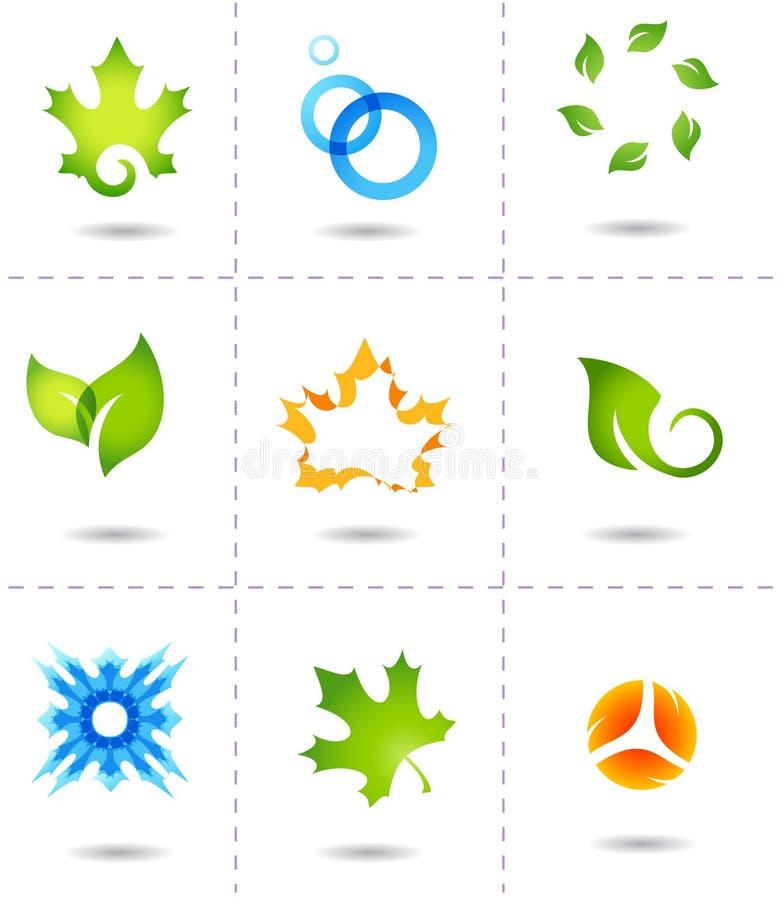 Ícones da natureza ilustração do vetor