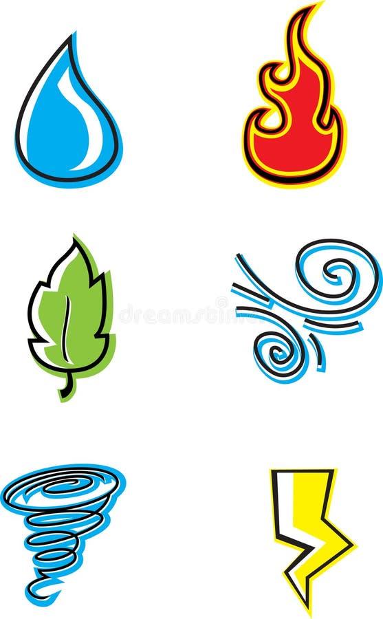 Ícones da natureza ilustração royalty free