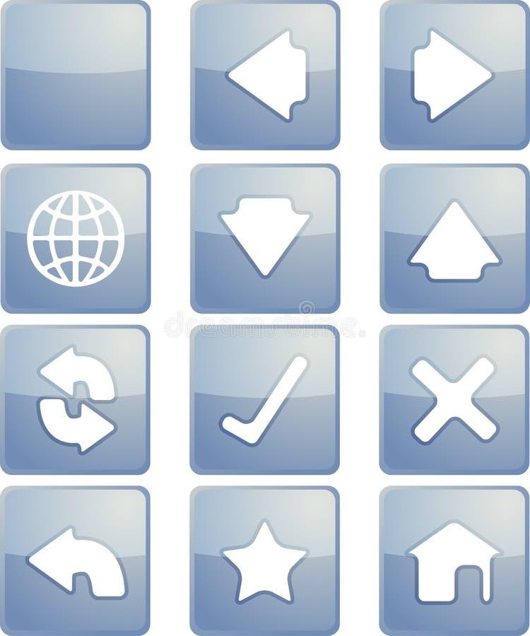 Ícones da navegação ilustração do vetor