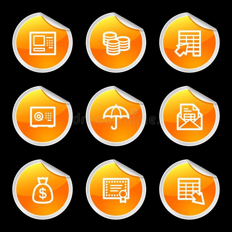 Ícones da operação bancária ilustração do vetor
