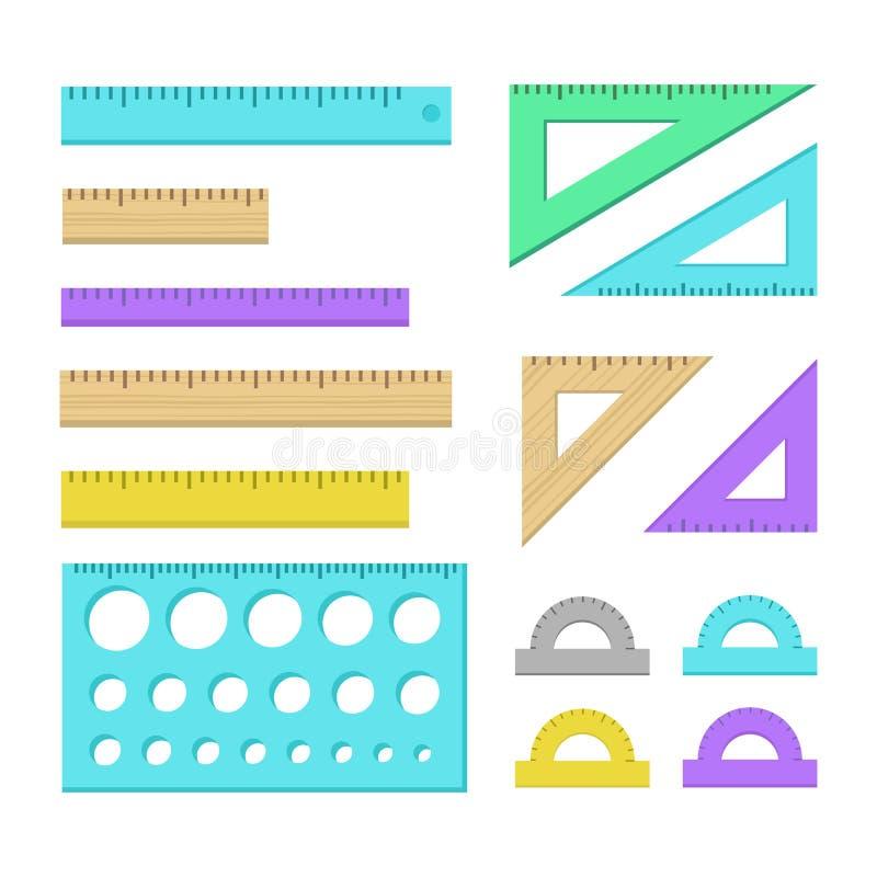 Ícones da régua ilustração stock